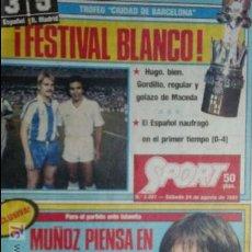 Coleccionismo deportivo: SPORT-1985-Nº2081-48 PAGINAS-NETZER-KRANKL-MIGUELI-JUANITO-MOLOWNY-AZKARGORTA-AMARILLA-MORATALLA. Lote 21148417