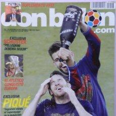 Coleccionismo deportivo: DON BALON Nº 1803 FC BARCELONA CAMPEON LIGA 09/10-POSTER ATLETICO DE MADRID UEFA EUROPA LEAGUE 2010. Lote 46480842