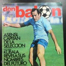 Coleccionismo deportivo: REVISTA DON BALÓN NÚMERO 155- AÑO IV 26 SEPT AL 1 OCT 1978 - ASENSI SELECCIÓN ESPAÑOLA.. Lote 46484085
