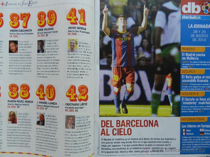 Coleccionismo deportivo: DON BALON Nº 1818 ATLETICO MADRID CAMPEON SUPERCOPA EUROPA 2010-POSTER FC BARCELONA LIGA 09/10 - Foto 7 - 46493849
