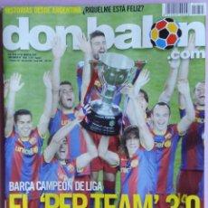 Coleccionismo deportivo: DON BALON Nº 1855 FC BARCELONA CAMPEON LIGA 10/11 BARÇA-POSTER DAVID LOPEZ ATHLETIC-WEAH-RIQUELME. Lote 143197102