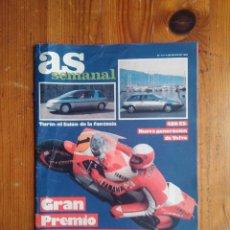 Coleccionismo deportivo: AS SEMANAL NÚMERO 14, MAYO DE 1986, ESPECIAL MOTOR. BUEN ESTADO. Lote 46634548