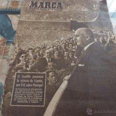 Coleccionismo deportivo: MARCA(23-3-48) ESPAÑA 2 PORTUGAL 0 Y EN LAS CORTS,BARCELONA-TOULOUSE-FOTOS. Lote 46649367