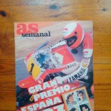 Coleccionismo deportivo: AS SEMANAL NÚMERO 65, ABRIL DE 1987. POSTER YAMAHA. BUEN ESTADO. Lote 46652705