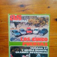 Coleccionismo deportivo: AS SEMANAL NÚMERO 98, DICIEMBRE DE 1987. ESPECIAL MOTOR. BUEN ESTADO. Lote 46653538