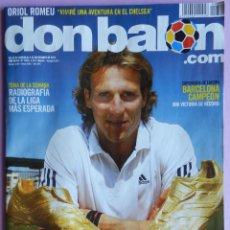 Coleccionismo deportivo: DON BALON Nº 1870 HISTORICO-ULTIMO NUMERO EDITADO-FC BARCELONA CAMPEON SUPERCOPA EUROPA 2011 POSTER. Lote 168168328