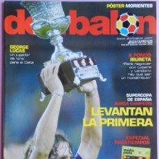 Coleccionismo deportivo: DON BALON Nº 1610 FC BARCELONA CAMPEON SUPERCOPA ESPAÑA 05/06-POSTER MORIENTES -IRURETA-GEORGE LUCAS. Lote 46672275