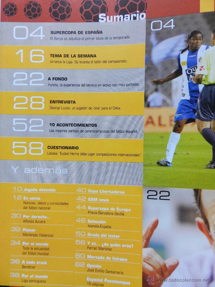 Coleccionismo deportivo: DON BALON Nº 1610 FC BARCELONA CAMPEON SUPERCOPA ESPAÑA 05/06-POSTER MORIENTES -IRURETA-GEORGE LUCAS - Foto 2 - 46672275