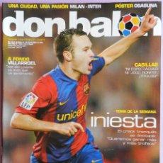 Coleccionismo deportivo: DON BALON Nº 1620 INIESTA-CASILLAS-POSTER CA OSASUNA 06/07-PIQUE-CAZORLA-ANIVERSARIO GRANADA CF. Lote 46673591