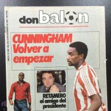 Coleccionismo deportivo: REVISTA DON BALÓN NÚMERO 426- AÑO IX 6/12 DICIEMBRE 1983- CUNNINGHAM SPORTING GIJON.. Lote 102681042