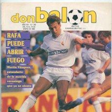 Coleccionismo deportivo: REVISTA DON BALÓN - Nº 742 - 1990 - EMILIO ISERTE, CANTATORE, SCHUSTER, HIERRO, LUIS MILLA. Lote 46799235