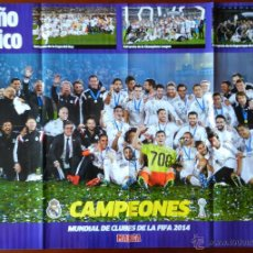 Coleccionismo deportivo: POSTER GIGANTE DIARIO MARCA REAL MADRID CAMPEON COPA MUNDIAL CLUBS 2014 MUNDIALITO INTERCONTIENTAL. Lote 51244361