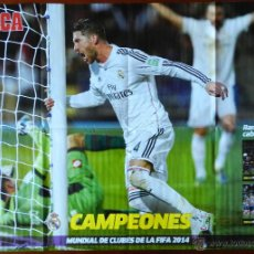 Coleccionismo deportivo: POSTER GIGANTE SERGIO RAMOS DIARIO MARCA REAL MADRID CAMPEON COPA MUNDIAL CLUBS 2014 MUNDIALITO. Lote 54169868