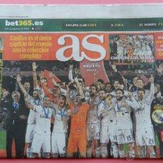 Coleccionismo deportivo: DIARIO AS REAL MADRID CAMPEON COPA MUNDIAL CLUBS 2014 MUNDIALITO INTERCONTINENTAL FIFA 14. Lote 97059372
