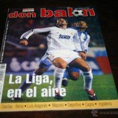 Coleccionismo deportivo: REVISTA FÚTBOL DON BALÓN Nº 1324 POSTER MANCHESTER UNITED 00-01. Lote 109258146