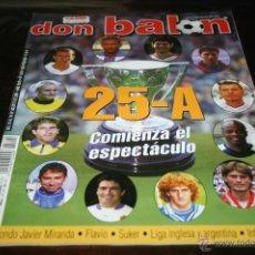 Coleccionismo deportivo: REVISTA FÚTBOL DON BALÓN Nº 1349 POSTER DJALMINHA DEL DEPORTIVO 01-02. Lote 47098751