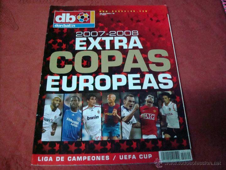 EXTRA COPAS EUROPEAS 2007 DON BALON (Coleccionismo Deportivo - Revistas y Periódicos - Don Balón)