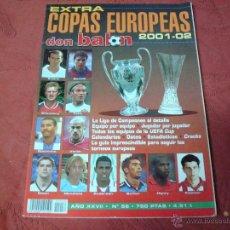 Coleccionismo deportivo: EXTRA COPAS EUROPEAS 2001 DON BALON. Lote 47109615