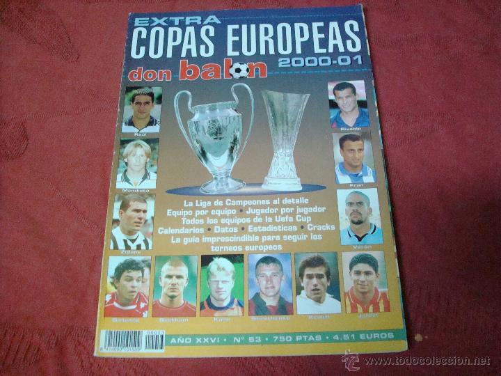 EXTRA COPAS EUROPEAS 2000 DON BALON (Coleccionismo Deportivo - Revistas y Periódicos - Don Balón)