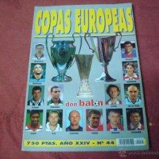 Collezionismo sportivo: EXTRA COPAS EUROPEAS 1998-1999 98 -99 DON BALON. Lote 47109759