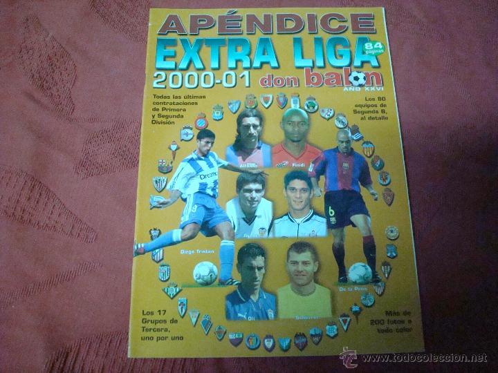APENDICE EXTRA LIGA 2000-2001 DON BALON (Coleccionismo Deportivo - Revistas y Periódicos - Don Balón)