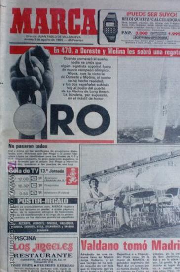MARCA-1984-Nº13244-ORO EN VELA-VALDANO TOMO MADRID- (Coleccionismo Deportivo - Revistas y Periódicos - Marca)