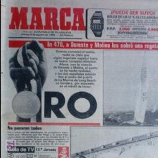 Coleccionismo deportivo: MARCA-1984-Nº13244-ORO EN VELA-VALDANO TOMO MADRID-. Lote 21127184