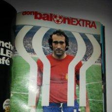 Coleccionismo deportivo: DON BALON TOMO CON 18 REVISTAS DICIEMBRE 1977 A MAYO 1978 , 15 POSTERS EXTRA MUNDIAL ARGENTINA 1978. Lote 47420142