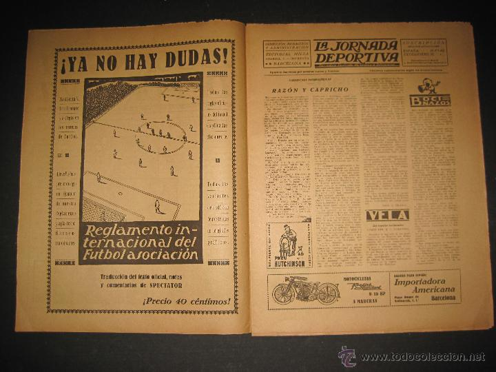 Coleccionismo deportivo: EQUIPO TITULAR DEL FUTBOL CATALAN- ALCANTARA , SAMI - JORNADA DEPORTIVA NUM. 80-NOV. 1922-(CD-1369) - Foto 2 - 47437516