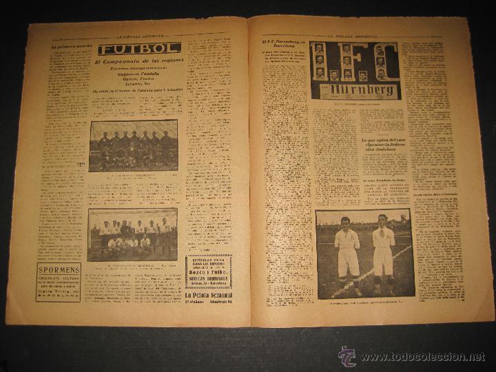 Coleccionismo deportivo: EQUIPO TITULAR DEL FUTBOL CATALAN- ALCANTARA , SAMI - JORNADA DEPORTIVA NUM. 80-NOV. 1922-(CD-1369) - Foto 6 - 47437516