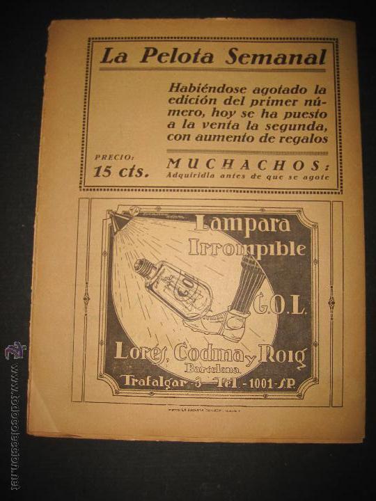 Coleccionismo deportivo: EQUIPO TITULAR DEL FUTBOL CATALAN- ALCANTARA , SAMI - JORNADA DEPORTIVA NUM. 80-NOV. 1922-(CD-1369) - Foto 9 - 47437516