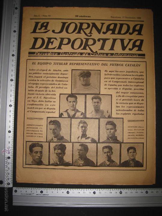 Coleccionismo deportivo: EQUIPO TITULAR DEL FUTBOL CATALAN- ALCANTARA , SAMI - JORNADA DEPORTIVA NUM. 80-NOV. 1922-(CD-1369) - Foto 10 - 47437516