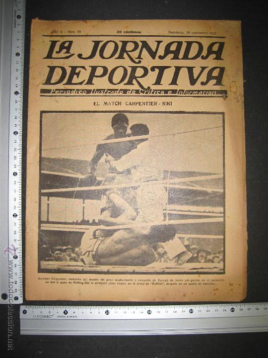 Coleccionismo deportivo: BOXEO -MATCH CARPENTIER - SIKI - JORNADA DEPORTIVA NUM. 65- SEP . 1922-(CD-1370) - Foto 10 - 47437563
