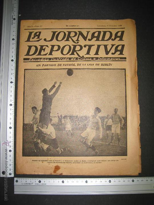 Coleccionismo deportivo: PARTIDO FUTBOL LIGA BERLIN - JORNADA DEPORTIVA NUM. 87- DICIEMBRE . 1922-(CD-1371) - Foto 7 - 47437591