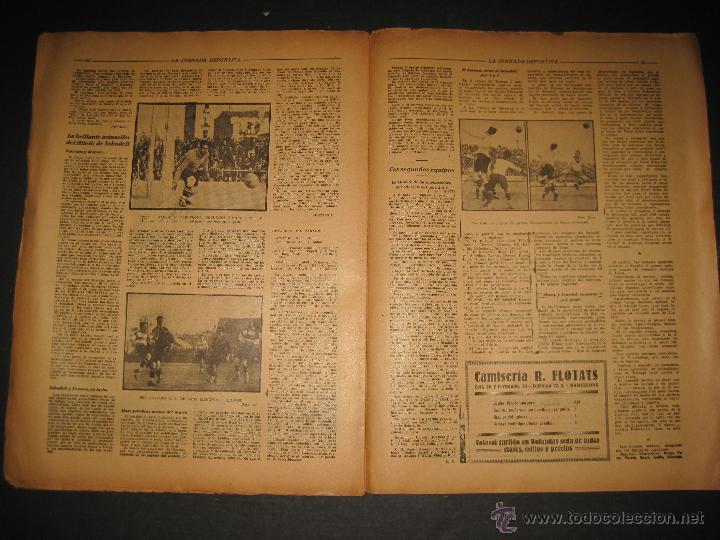 Coleccionismo deportivo: PARTIDO FUTBOL U.S. SANS -F.C. BARCELONA - JORNADA DEPORTIVA NUM. 81- NOVIEMBRE 1922-(CD-1372) - Foto 8 - 47437642