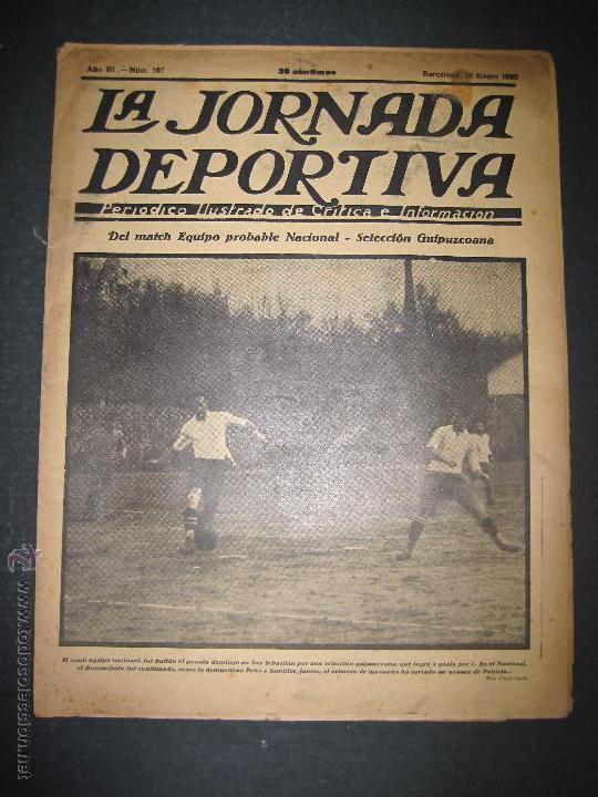 SELECCION GUIPUZCOANA - JORNADA DEPORTIVA NUM.107- ENERO 1923-(CD-1375) (Coleccionismo Deportivo - Revistas y Periódicos - La Jornada Deportiva)