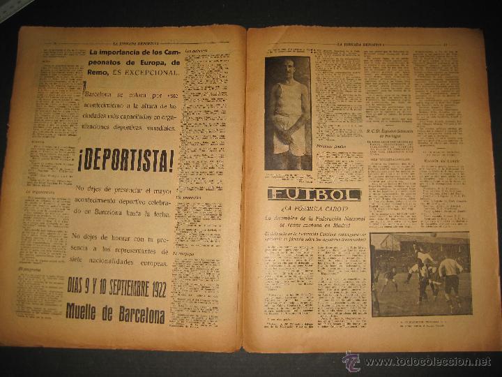 Coleccionismo deportivo: EQUIPO VASCO EN AMERICA - JORNADA DEPORTIVA NUM.59 - SEPTIEMBRE 1922-(CD-1377) - Foto 6 - 47437952