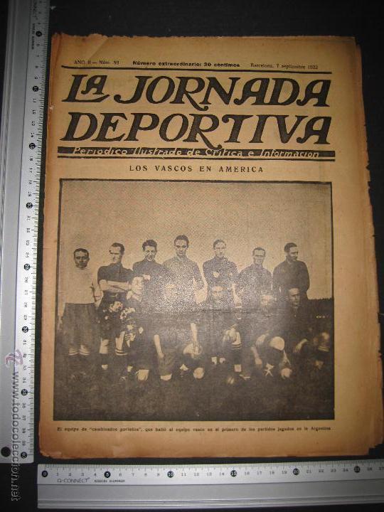 Coleccionismo deportivo: EQUIPO VASCO EN AMERICA - JORNADA DEPORTIVA NUM.59 - SEPTIEMBRE 1922-(CD-1377) - Foto 10 - 47437952