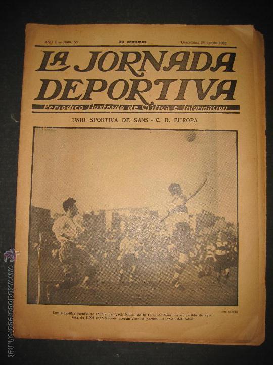 FUTBOL U.S. SANS , C.D. EUROPA - JORNADA DEPORTIVA NUM.56 - AGOSTO 1922 -(CD-1381) (Coleccionismo Deportivo - Revistas y Periódicos - La Jornada Deportiva)