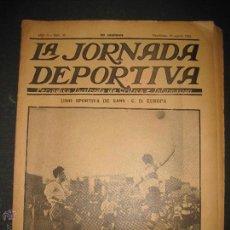Coleccionismo deportivo: FUTBOL U.S. SANS , C.D. EUROPA - JORNADA DEPORTIVA NUM.56 - AGOSTO 1922 -(CD-1381). Lote 47446647