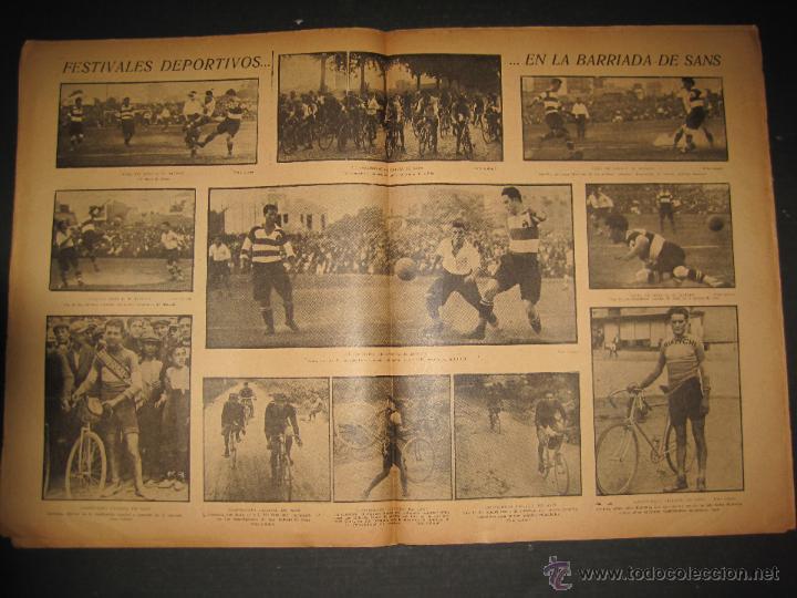 Coleccionismo deportivo: FUTBOL U.S. SANS , C.D. EUROPA - JORNADA DEPORTIVA NUM.56 - AGOSTO 1922 -(CD-1381) - Foto 5 - 47446647