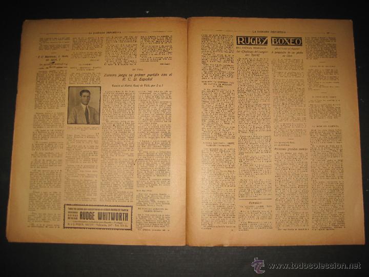 Coleccionismo deportivo: FUTBOL U.S. SANS , C.D. EUROPA - JORNADA DEPORTIVA NUM.56 - AGOSTO 1922 -(CD-1381) - Foto 7 - 47446647