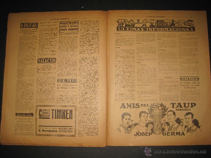 Coleccionismo deportivo: FUTBOL U.S. SANS , C.D. EUROPA - JORNADA DEPORTIVA NUM.56 - AGOSTO 1922 -(CD-1381) - Foto 8 - 47446647