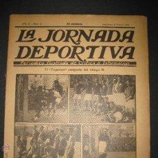 Coleccionismo deportivo: FUTBOL EL ESPANYA CAMPEON DEL GRUPOB - JORNADA DEPORTIVA NUM.22 -FEBRERO 1922 -(CD-1383). Lote 47446746
