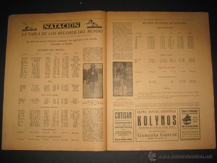 Coleccionismo deportivo: FUTBOL EL ESPANYA CAMPEON DEL GRUPOB - JORNADA DEPORTIVA NUM.22 -FEBRERO 1922 -(CD-1383) - Foto 3 - 47446746