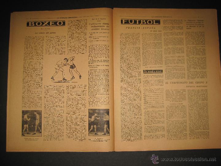 Coleccionismo deportivo: FUTBOL EL ESPANYA CAMPEON DEL GRUPOB - JORNADA DEPORTIVA NUM.22 -FEBRERO 1922 -(CD-1383) - Foto 4 - 47446746