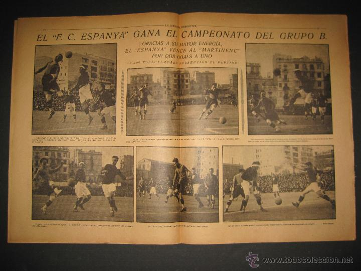 Coleccionismo deportivo: FUTBOL EL ESPANYA CAMPEON DEL GRUPOB - JORNADA DEPORTIVA NUM.22 -FEBRERO 1922 -(CD-1383) - Foto 5 - 47446746