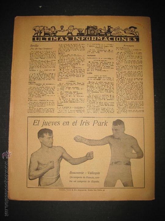 Coleccionismo deportivo: FUTBOL EL ESPANYA CAMPEON DEL GRUPOB - JORNADA DEPORTIVA NUM.22 -FEBRERO 1922 -(CD-1383) - Foto 10 - 47446746