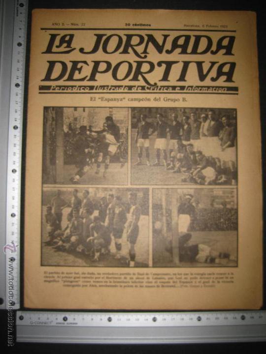 Coleccionismo deportivo: FUTBOL EL ESPANYA CAMPEON DEL GRUPOB - JORNADA DEPORTIVA NUM.22 -FEBRERO 1922 -(CD-1383) - Foto 11 - 47446746