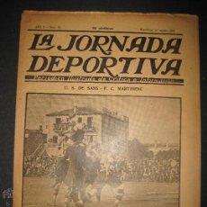Coleccionismo deportivo: FUTBOL U.S. SANS , F.C. MARTINENC -JORNADA DEPORTIVA NUM.54 - AGOSTO 1922-(CD-1385). Lote 47446823